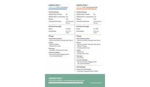DR. MED. SCHRAMMEK Green Peel® Classic, Fresh up  & Energy Behandlungsablauf DIN A5